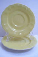 Buttercup Federalist Ironstone yellow Set Of 2 Saucers Made In Japan