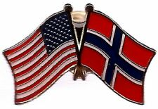 Wholesale Pack of 3 USA American Norway Flag Bike Hat Cap lapel Pin
