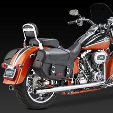 1997-2011 HARLEY SOFTAIL DUALS Full Chrome Exhaust System: VANCE AND HINES 16793