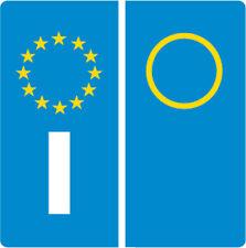 2 ADESIVO STICKERS TARGA EUROPA EURO DECAL AUTO ITALIA