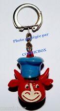 Porte clés ancien NEGO VIRLUX tête figurine vache qui rit publicité pub keychai