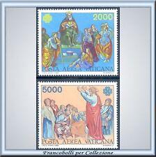 Vaticano 1983 Posta Aerea Anno Comunicazioni n 73/74 **