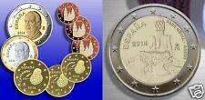 manueduc   ESPAÑA 2014  Las 9 Monedas   CON 2 Euros CONMEMORATIVA  GUELL  UNC