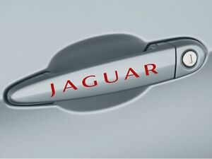 JAGUAR X Tipe XK8 XKR S XJR XJ8 XJ6 XJS Door Handle Decal sticker emblem logo R