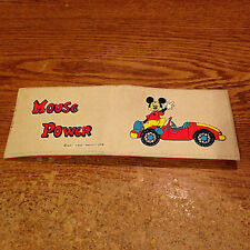 WALT DISNEY MICKEY MOUSE MOUSE POWER WALLET WITH CAR NEW/ REAL PICS /WRONGWAY052