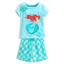 NEW Disney Ariel Little Mermaid PJs Summer Pajamas NWT Size 9 10 Year Princess