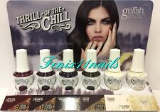 Gelish THRILL OF THE CHILL Soak Off Gel Polish 8-pc Display Set 1110280-1110285