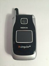 💛 Nokia 6101 Black (CINGULAR) Cellular Flip Phone Vintage Phone UNTESTED NO BAT