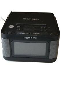 "Memorex MC8431 Alarm Clock Radio with 1.2"" LCD display Tested Works 100% EUC"