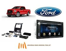2015-2017 Ford F150-F550 DOUBLE DIN STEREO INSTALL Kit, BLUETOOTH TOUCHSCREEN