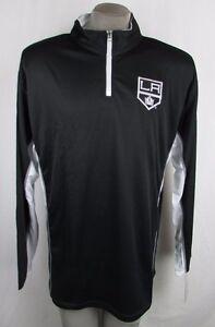 Los Angeles Kings Men's Black/White 2 Tone Big & Tall Warm-Up Track Jacket NHL
