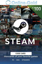 100 EUR códigos de la Cartera de Steam €100 Euro tarjetas regalo de Steam EU/ES