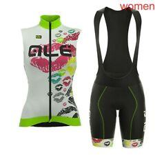 New Cycling Jersey Set Women 2019 Summer MTB Bike sleeveless vest bib shorts Kit