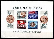 DDR Block 9 B,  K. Marx Block  geschnitten  postfrisch,einwandfreier  Zustand.