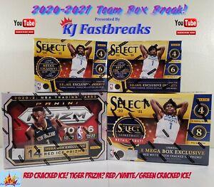 Grizzlies! 2020-2021 NBA Select/Prizm Box Break! Mega/Blasters-Red Cracked Ice!
