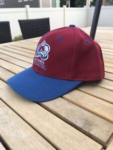 Vintage Colorado Avalanche Hockey Hat Cap Logo Athletic 7 Snapback Starter NHL
