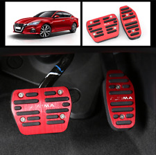 2pcs Red No Drilling Gas Brake Foot Pedal Cover AT For 2019 Nissan Altima