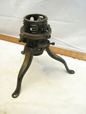 Antique North Bros Cast Iron Christmas Tree Stand Flag Pole Holder Patent Clamp