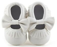 Delebao Baby Girl Soft Sole Tassel Moccasins Shoes with Bow Size 3-6 Months (2)
