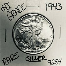 1943 LIBERTY WALKING SILVER HALF DOLLAR HI GRADE U.S. MINT RARE COIN 9254