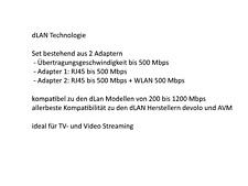 dLAN WLAN WiFi 500 AV Wireless Starter Kit Powerline LAN Steckdose kompatibel