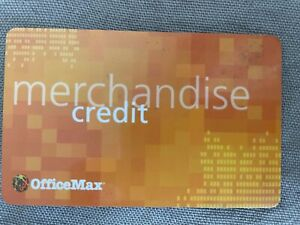 OFFICEMAX Merchandise Credit $51.95 for your needs at the store