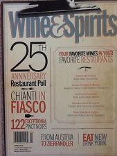 Wine & Spirits Magazine 25th Anniversary Restaurant Poll April 2014