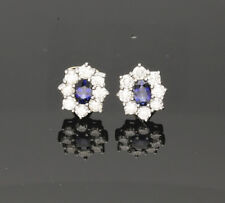 Snap Closure Yellow Gold Sapphire Fine Earrings