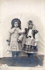 BJ197 Carte Photo vintage card RPPC Enfant fille déguisement mode fashion