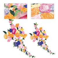 Blume AufnAher Bunt Gestickt Patch Abzeichen nAhen AufnAherbild Kleid DIY NEU