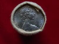 Australia. 1968 20 Cent Mint Roll..  (20 coins) UNC/BU - In RAM wrapper..