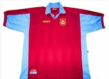 1997-1998 West Ham United Pony Home Football Shirt Jersey Large Mens 42/44 VGC