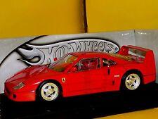 FERRARI F40 1987 RED RED HOTWHEELS 23911  1:18