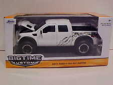 2011 Ford F-150 SVT Raptor Pickup Truck Die-cast 1:24 White Jada Toys 8inch