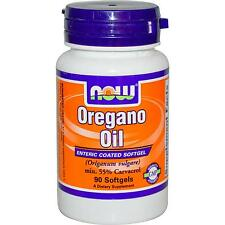 NOW FOODS - OREGANO OIL - 90 SOFTGELS - WITH GINGER & FENNEL OIL - 55% CARVACROL