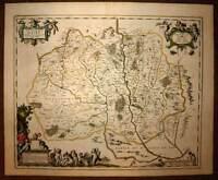 Card Geographic Antique the Country Martin per Jansson Janssonius 1640 Antic Map