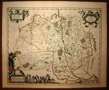carte geographique ancienne LE PAYS MESSIN par Jansson Janssonius 1640 antic map