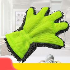 2x Car Washing Glove Portable Wash Clean Microfiber Home Towel Kitchen Scrub US