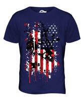 Hommes unisexe manches courtes T-Shirt BORN IN THE RDA état né dans le rétro
