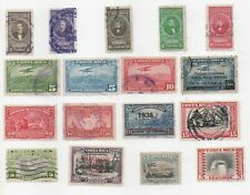 1938,1941,195 Costa Rica Airmails Overprints Mint and Used Lots of Scans Xf, Vf
