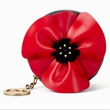 c862bf0d8a399 Kate Spade NY NWT Black Poppy Ooh La La Leather Coin Purse Key Ring Retail   99