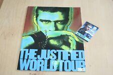 Justin Timberlake - Laminated Backstage Pass + Tour Book
