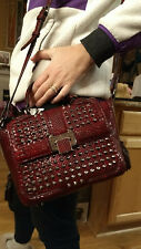 Beautiful Rebecca Minkoff Women Leather Studded Shoulder Crossbody Hand Bag