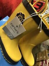 Carter's Fireman Rainboots(CS15-RB009) Yellow/Gray•Toddler Sz 7 .Never Worn/New✓