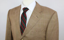 Ermenegildo Zegna Brown Glen Plaid Sport Coat Wool Jacket Sz 40R Switzerland