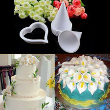 New 7PCS Calla Lily Flower Decorating Cutters Mold Sugar Craft Fondant Cake Tool