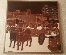 Vintage Signed Original Batik Print. Framed. South East Asia Circa 1978.