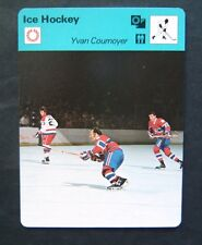 1977-1979 Sportscaster Card Ice Hockey Yvan Cournoyer Montreal Canadiens 15-13
