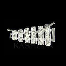 w Swarovski Crystal ~Bell Kit Set Xylophone Marimba~ percussion Music Pin Brooch