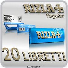 1000 CARTINE RIZLA BLU CORTE - 20 Libretti - RIZLA BLUE PER SIGARETTE REGULAR